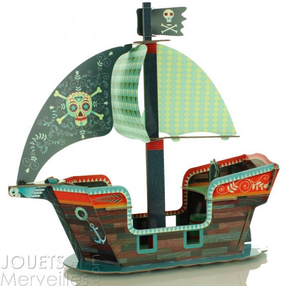 Bateau pirate 3D DJECO 7709