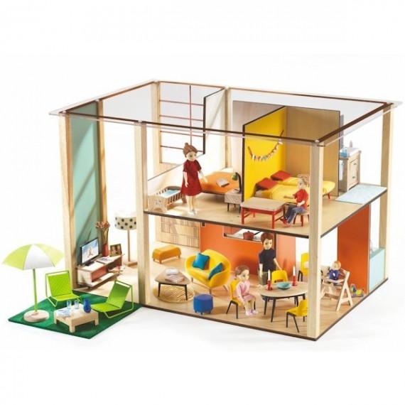 Maison de poupées meublée Djeco Cubic