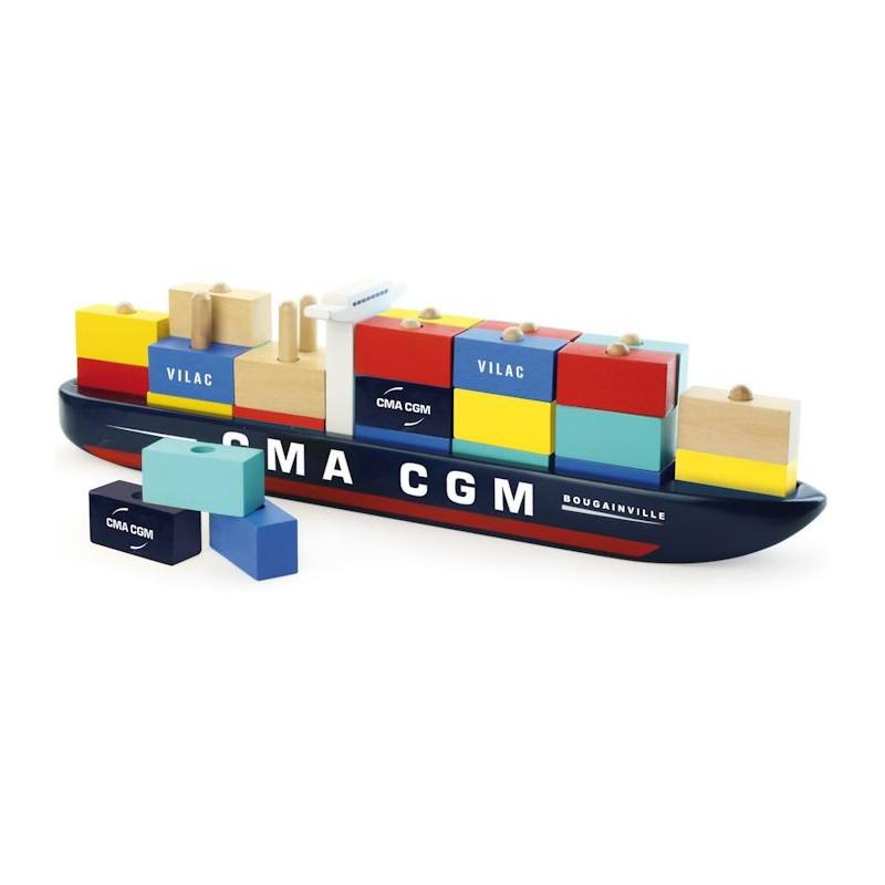 Porte container vilac 2315 jouets et merveilles for Container en bois
