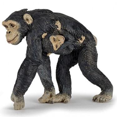 Chimpanzé et son bébé, figurine PAPO 50194