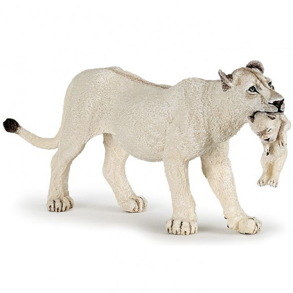 Lionne blanche avec lionceau PAPO 50203