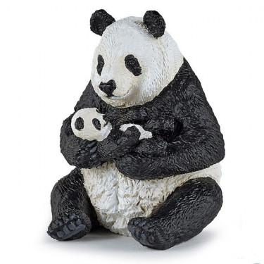 Panda assis et son bébé PAPO 50196