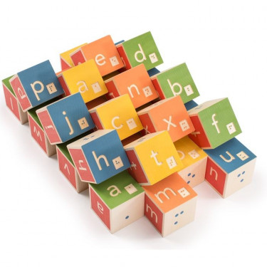 Cubes alphabet Braille Uncle Goose
