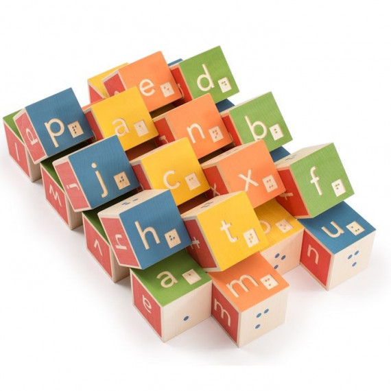 Cubes alphabet Braille Uncle Goose
