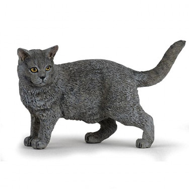 Chat chartreux, figurine PAPO 54040