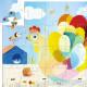 Raoul ma poule, puzzle silhouette 24 pcs DJECO 7206