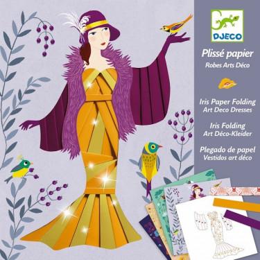 Plissé papier 'Robes Art Déco' DJECO 9442