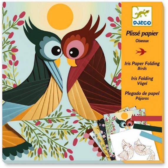 Plissé papier 'Oiseaux' DJECO 9443
