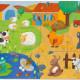 Puzzle géant Tactilo ferme 12 pcs + 8 DJECO 7117
