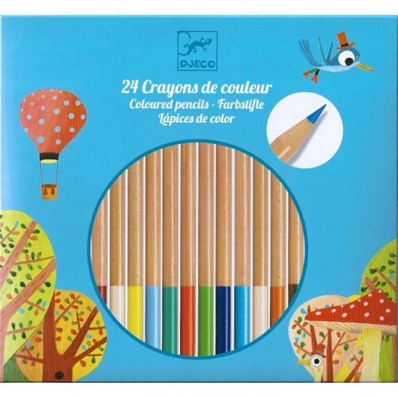24 crayons de couleur DJECO 9752