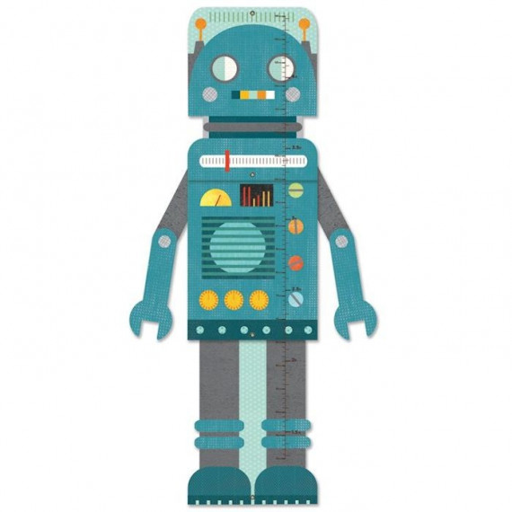Toise de croissance 'Robot bleu' Petit Collage