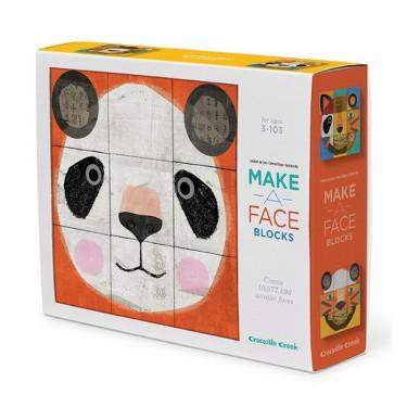 Cubes puzzle 'Créer un visage d'animal' Crocodile Creek