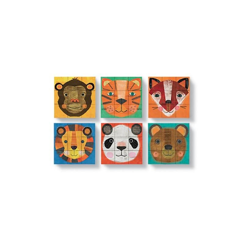 cubes puzzle 39 cr er un visage d 39 animal 39 crocodile creek. Black Bedroom Furniture Sets. Home Design Ideas