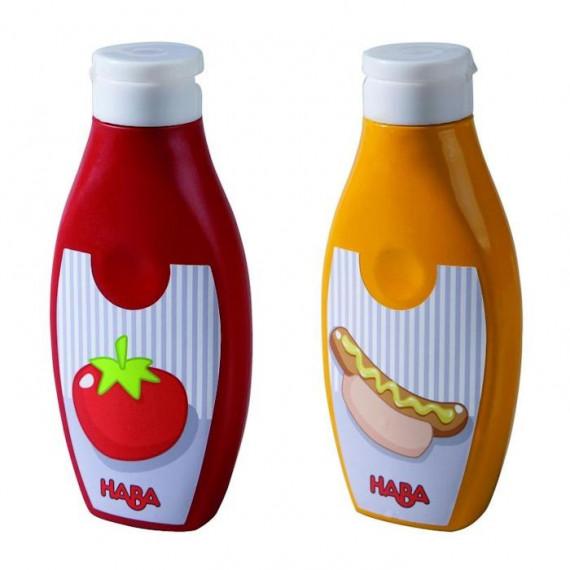 Flacons de ketchup et de moutarde HABA 301031