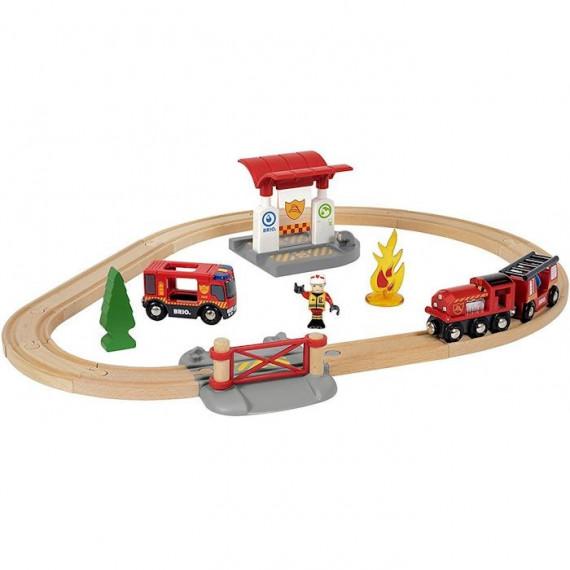 Circuit pompier lutte feu BRIO 33815