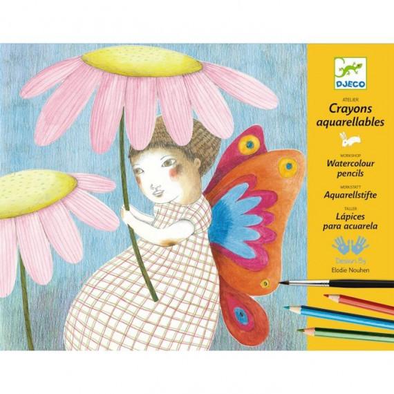 Atelier Crayons aquarellables Jeux d'enfants, DJECO DJO8611