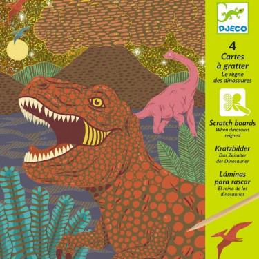 Cartes à gratter 'Le règne des dinosaures' DJECO 9726