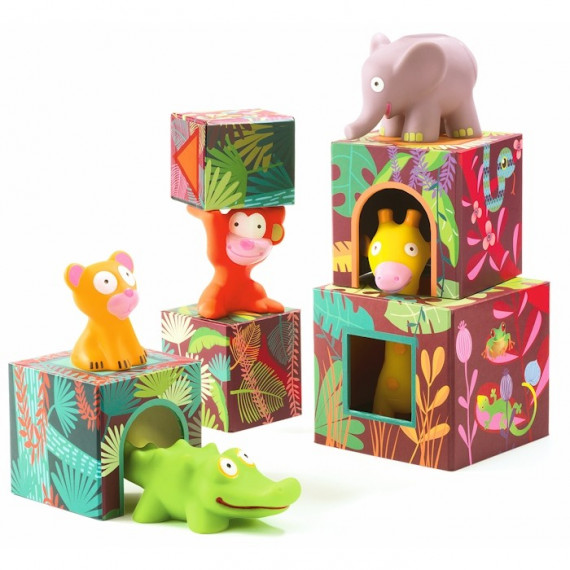Maxi Topanijungle, jeu de cubes DJECO 9101