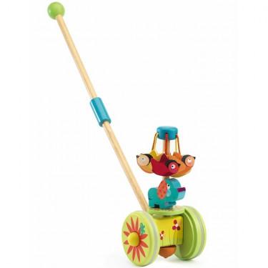 Rouly Cuicui, jouet à pousser DJECO 6261