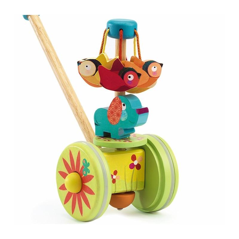 rouly cuicui jouet pousser djeco 6261 jouets et merveilles. Black Bedroom Furniture Sets. Home Design Ideas