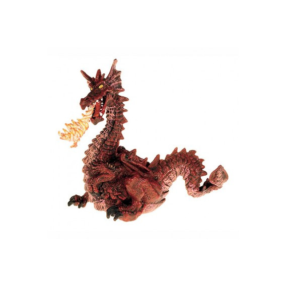 Dragon rouge avec flamme, figurine PAPO 39016