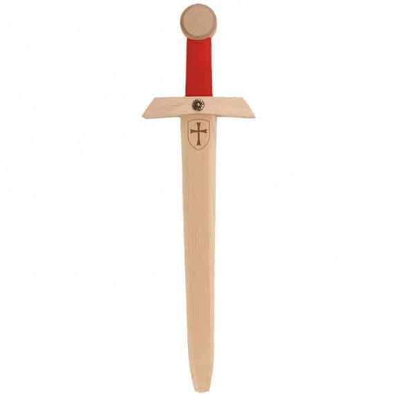Epée Templier rouge, jouet en bois VAH 446