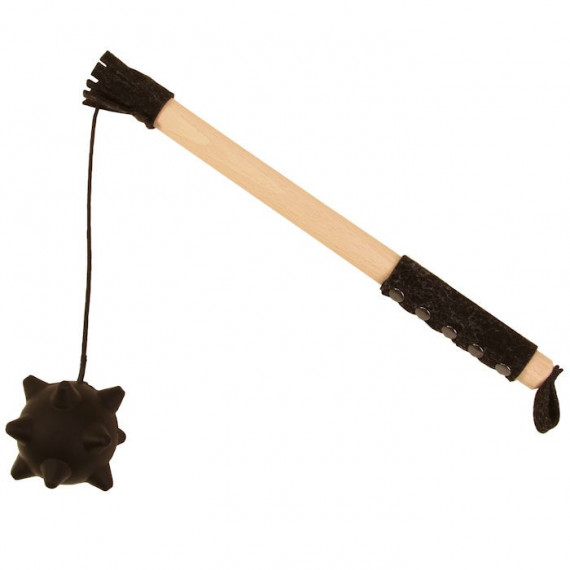 Masse d'arme avec boule en mousse, jouet en bois VAH 549