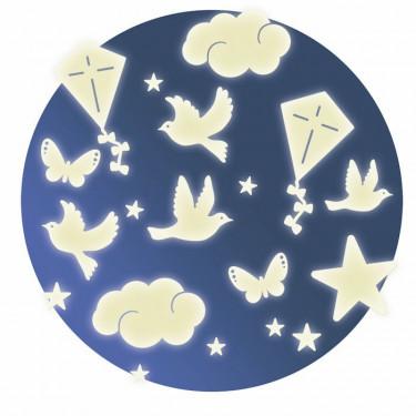 Décors phosphorescents 'Dans le ciel' DJECO 4590