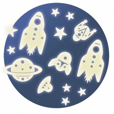 Décors phosphorescents 'Mission espace' DJECO 4591