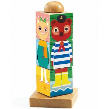 Twistanimo, puzzle cubes en bois DJECO 1910