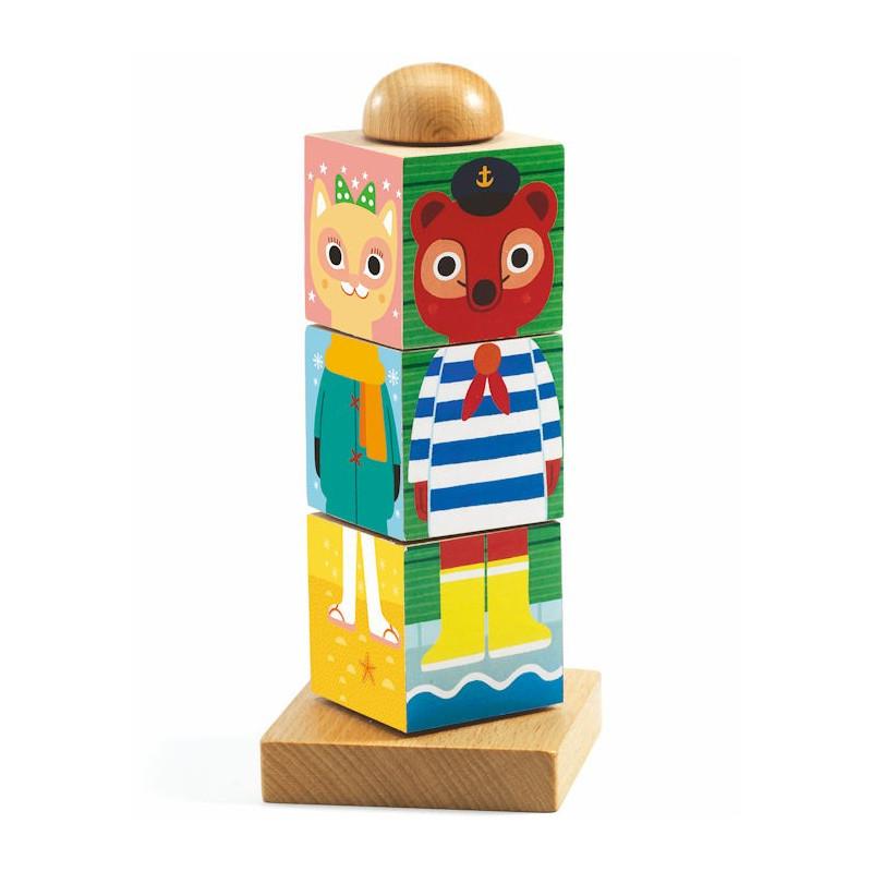 twistanimo puzzle cubes en bois djeco 1910 jouets et. Black Bedroom Furniture Sets. Home Design Ideas