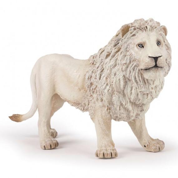 Grand lion blanc, figurine géante PAPO 50185