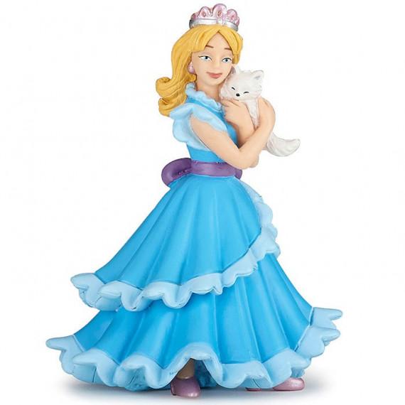 Princesse bleue au chat, figurine PAPO 39125