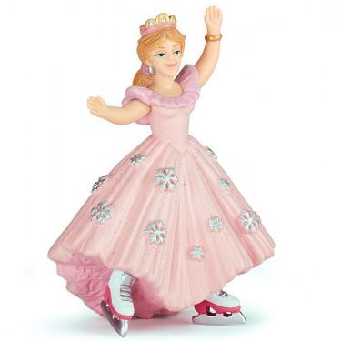 Princesse rose aux patins à glace, figurine PAPO 39126