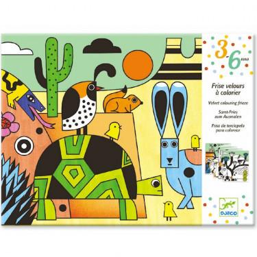 """Frise velours à colorier """"Colorado"""" DJECO 9627"""