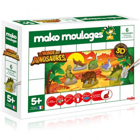 Mako Moulages Le monde des dinosaures, coffret 6 moules 39018