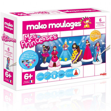 Mako Moulages 'Mes princesses', coffret 6 moules 39017