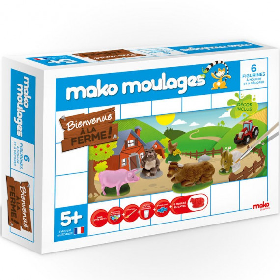 Mako Moulages Animaux de la ferme, coffret 6 moules 39011