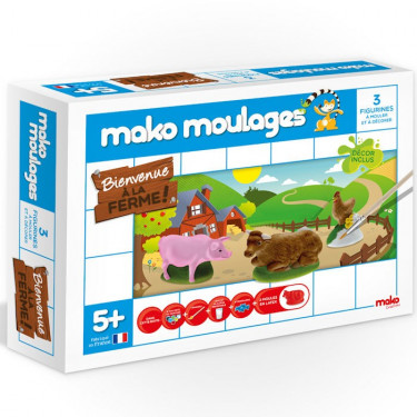 Mako Moulages Animaux de la ferme, coffret 3 moules 39002