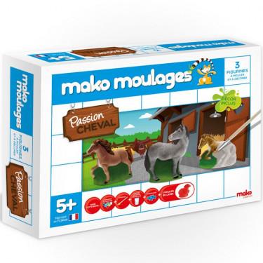 Mako Moulages Chevaux, coffret 3 moules 39008