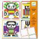 Coloriages pixels 'Skull boys' DJECO 9644