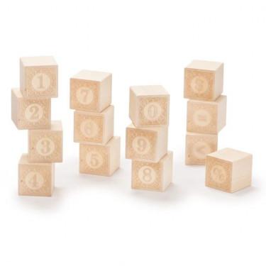 Cubes 'chiffres' en bois naturel Uncle Goose