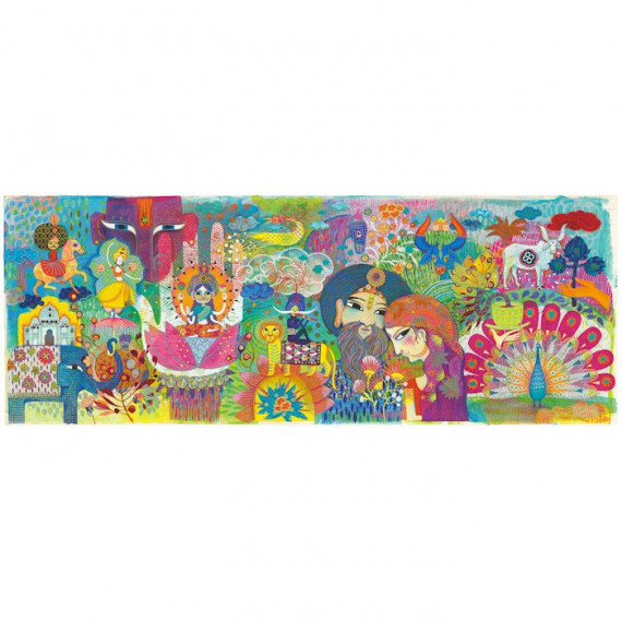 Puzzle 1000 pcs Magic India DJECO 7649