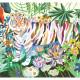 Puzzle 1000 pcs Rainbow tigers DJECO 7647