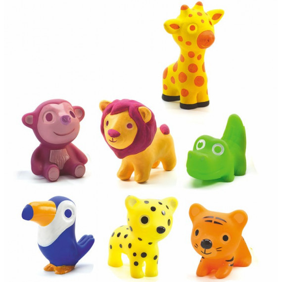 Figurines d'animaux sauvages 'Troopo-savana' DJECO 9117