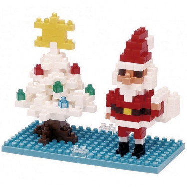 Père Noël avec sapin de Noël nanoblock