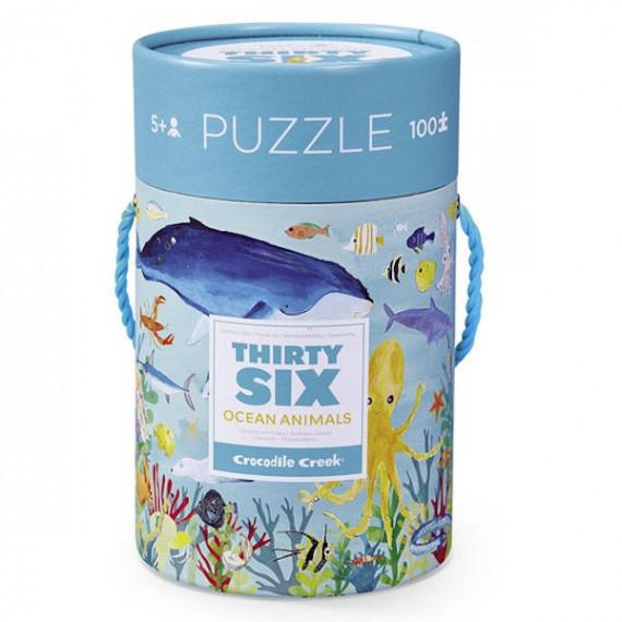 Puzzle '36 animaux marins' 100 pcs CROCODILE CREEK
