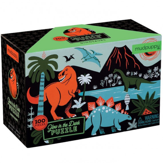Puzzle qui Brille dans le Noir 'Dinosaures' 100 pcs Mudpuppy