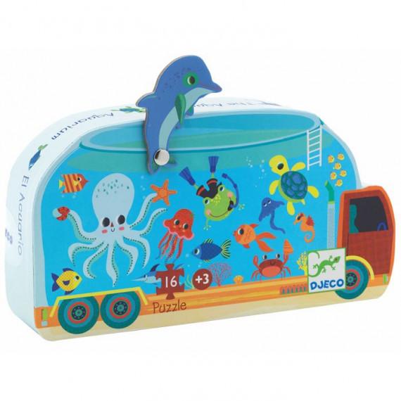 L'aquarium, puzzle silhouette 16 pcs DJECO 7266