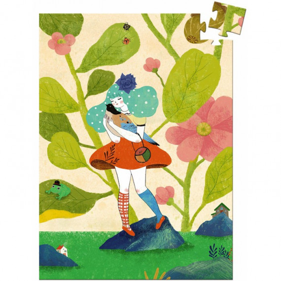Mini puzzle Miss Chichi 60 pcs DJECO 7676